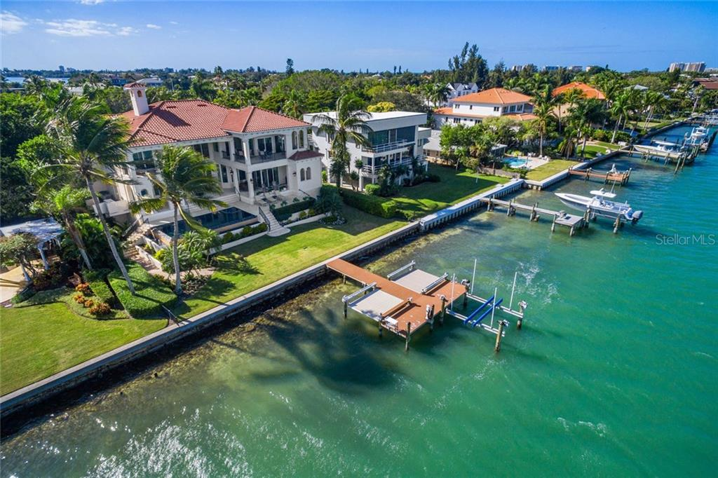 The John Ringling bridge to Lido and Longboat as seen from the dock. - Single Family Home for sale at 901 Norsota Way, Sarasota, FL 34242 - MLS Number is A4456224