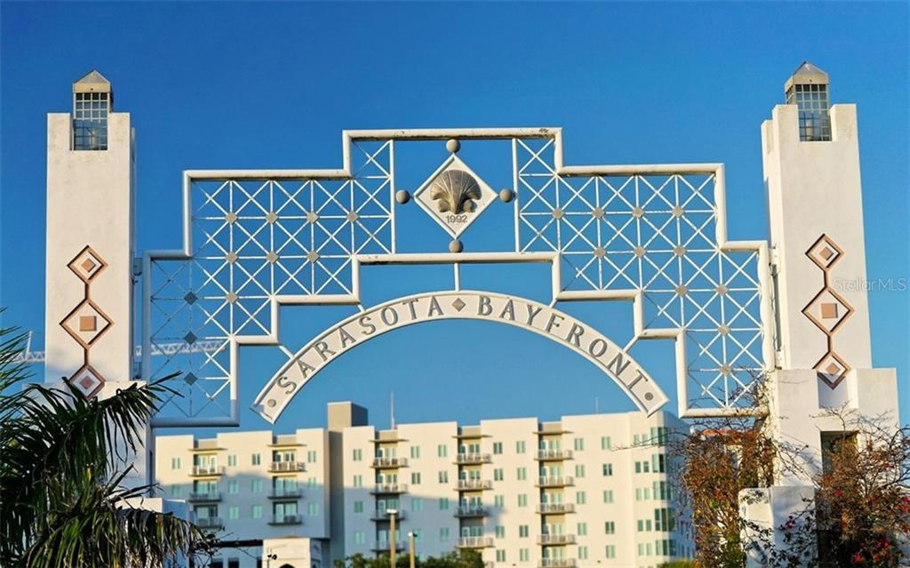 Entrance to Bayfront Park - Condo for sale at 100 Central Ave #A401, Sarasota, FL 34236 - MLS Number is A4463296