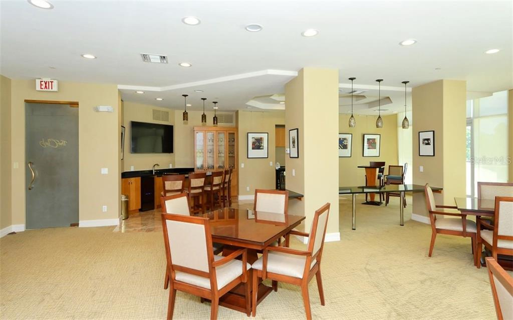 Sarabande Club Room - Condo for sale at 340 S Palm Ave #Pl1, Sarasota, FL 34236 - MLS Number is A4471687
