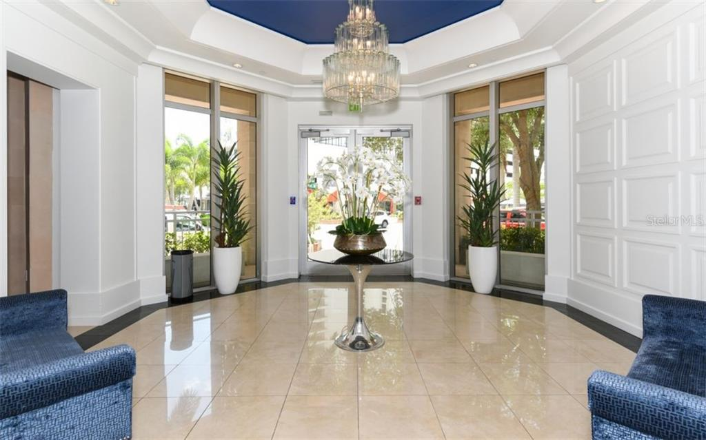 Entry to the building - Condo for sale at 1350 Main St #1001, Sarasota, FL 34236 - MLS Number is A4472708