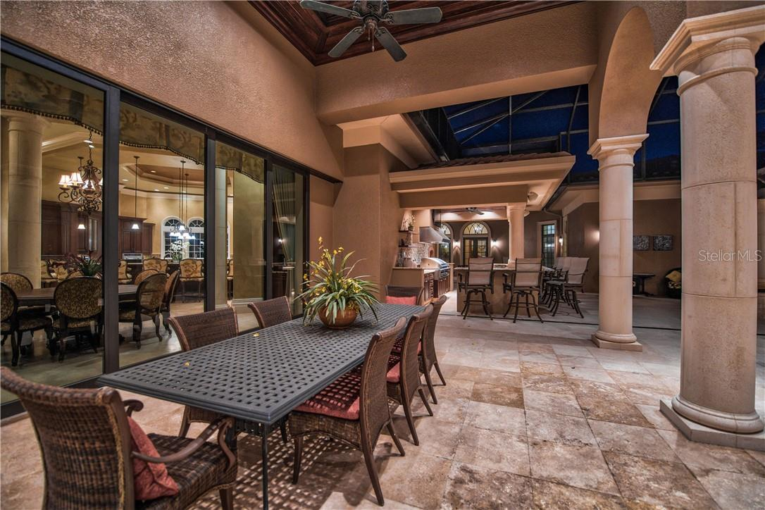 Lanai is perfect for Large Soirees or Intimate Gatherings - Single Family Home for sale at 8499 Lindrick Ln, Bradenton, FL 34202 - MLS Number is A4475594