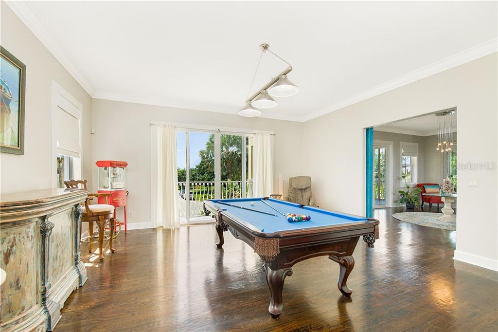 Billiards/game room or 4th bedroom. - Single Family Home for sale at 7303 Westmoreland Dr, Sarasota, FL 34243 - MLS Number is A4478376