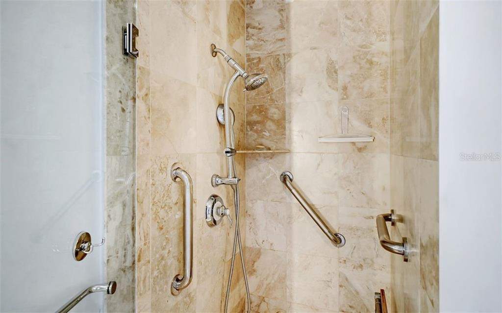 The shower in the master bath - Condo for sale at 1350 Main St #1601, Sarasota, FL 34236 - MLS Number is A4478753
