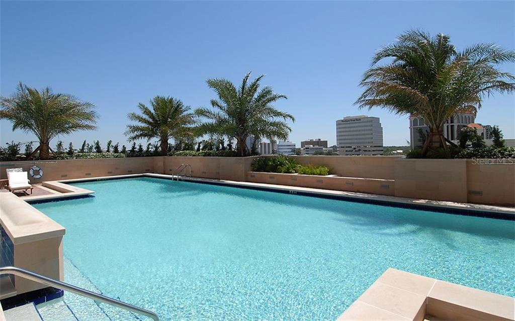 Pool is suitable for laps or relaxation - Condo for sale at 1350 Main St #1601, Sarasota, FL 34236 - MLS Number is A4478753