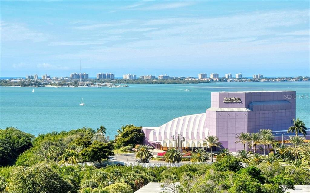 Looking west from the terrace - Condo for sale at 800 N Tamiami Trl #1007, Sarasota, FL 34236 - MLS Number is A4485565