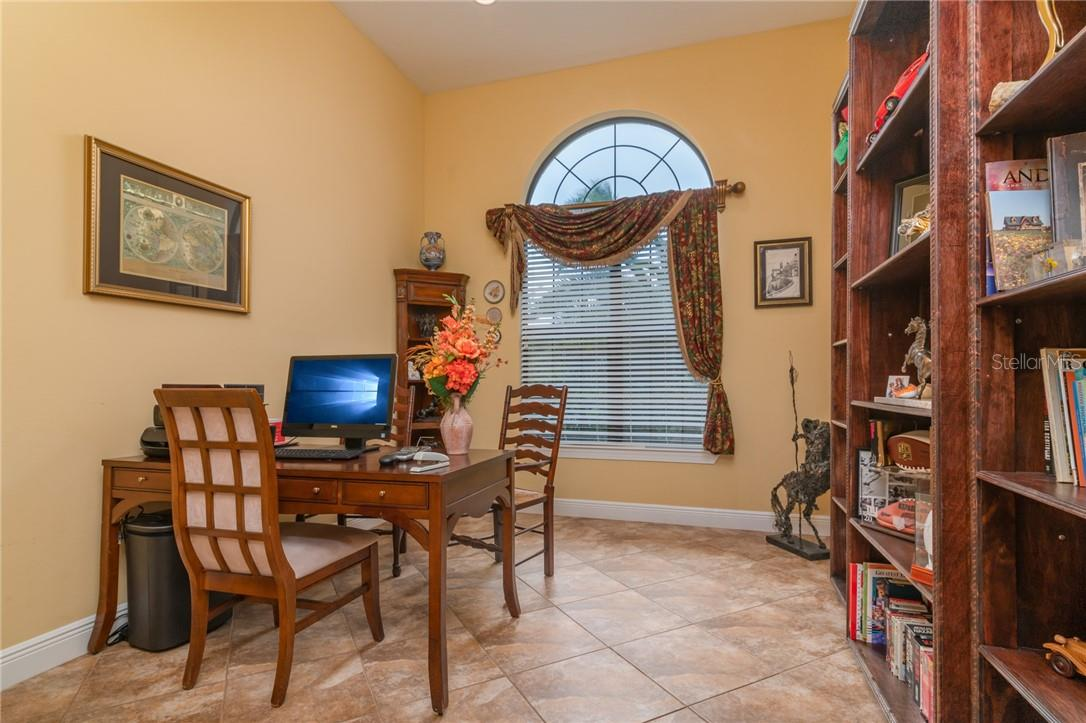 To the right off of the Entry Foyer is a generous Office with a separate storage closet in the hallway leading to the office. - Single Family Home for sale at 11720 Rive Isle Run, Parrish, FL 34219 - MLS Number is A4486302