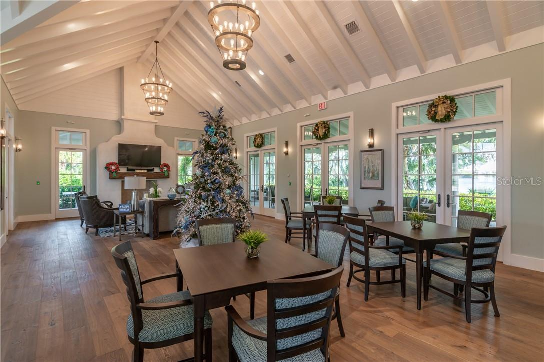The Club Room inside the River Lodge, an exclusive amenity for homeowners in The Islands on the Manatee River. - Single Family Home for sale at 11720 Rive Isle Run, Parrish, FL 34219 - MLS Number is A4486302