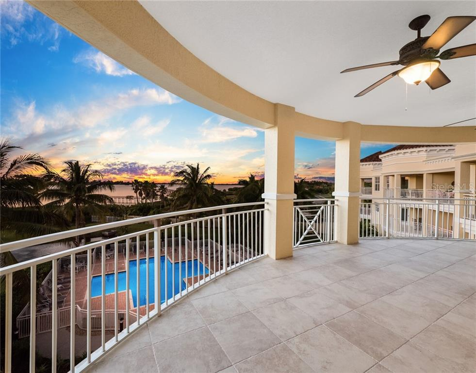 Expansive view from this open air terrace. - Condo for sale at 14021 Bellagio Way #407, Osprey, FL 34229 - MLS Number is A4487552