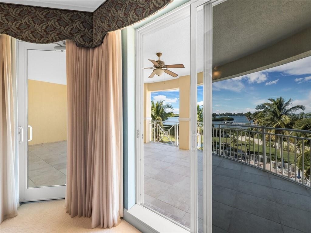 Owners suite extending out to the grandiose balcony. - Condo for sale at 14021 Bellagio Way #407, Osprey, FL 34229 - MLS Number is A4487552