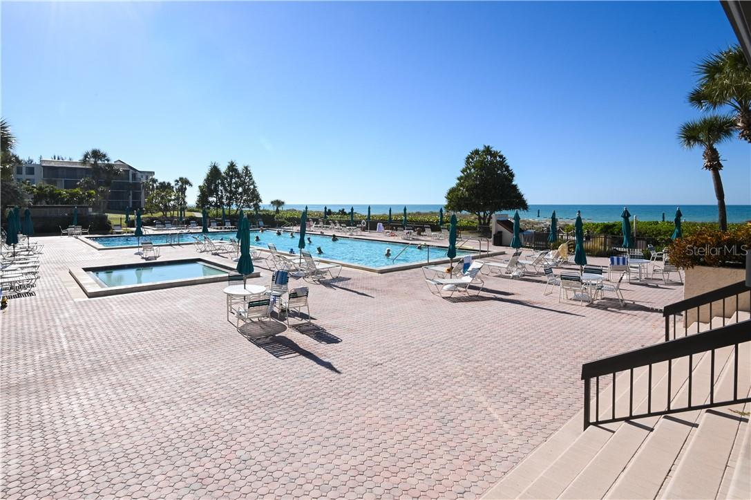 Seaplace Swimming Pool with Gorgeous Views of the Vast Opening of the Gulf of Mexico Beach - Condo for sale at 1945 Gulf Of Mexico Dr #M2-505, Longboat Key, FL 34228 - MLS Number is A4489188