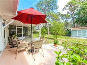 Open and covered patio - Single Family Home for sale at 411 Lyons Bay Rd, Nokomis, FL 34275 - MLS Number is A4209146