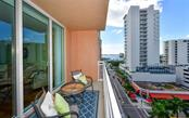 View from the balcony - Condo for sale at 1350 Main St #804, Sarasota, FL 34236 - MLS Number is A4451085