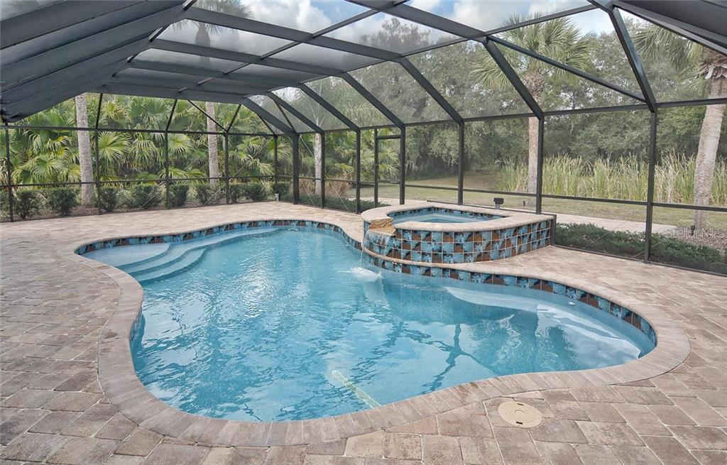 New Heated Salt water Pool and spa with pebble tec surface - Single Family Home for sale at 2505 Northway Dr, Venice, FL 34292 - MLS Number is N5911099