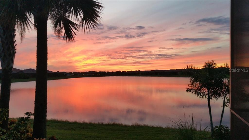 View From Lanai. Western Exposure. - Single Family Home for sale at 23692 Waverly Cir, Venice, FL 34293 - MLS Number is N5912967