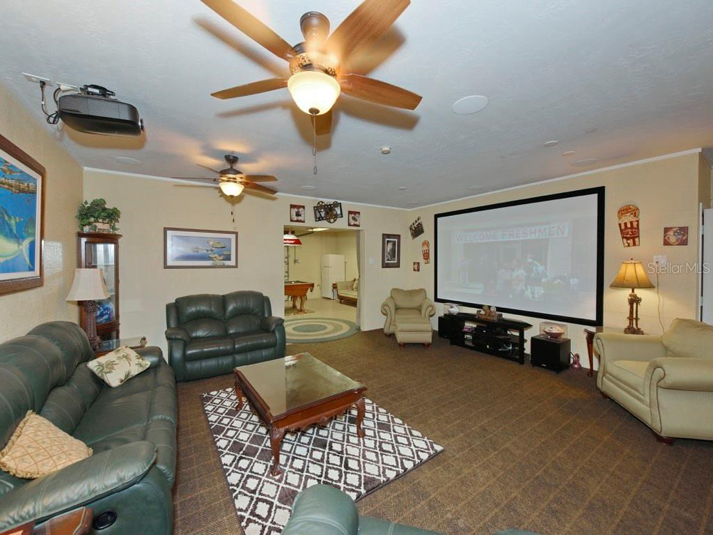 Theatre Room - Single Family Home for sale at 200 Sunrise Dr, Nokomis, FL 34275 - MLS Number is N5914820