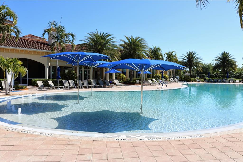 Another view of the community pool - Single Family Home for sale at 13880 Lido St, Venice, FL 34293 - MLS Number is N5917319