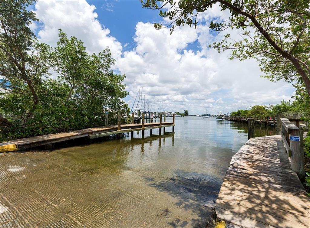 The boat launch is right across the street - Condo for sale at 1255 Tarpon Center Dr #606, Venice, FL 34285 - MLS Number is N6100568