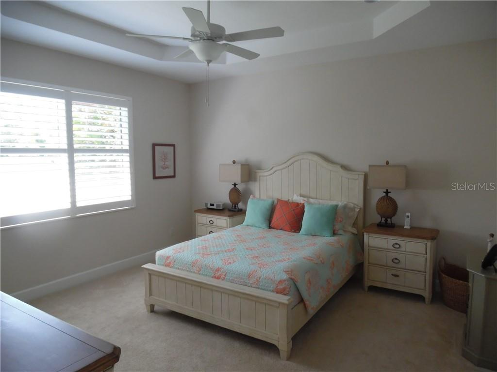 master bedroom has two impact windows - Single Family Home for sale at 239 Nolen Dr, Venice, FL 34292 - MLS Number is N6101457