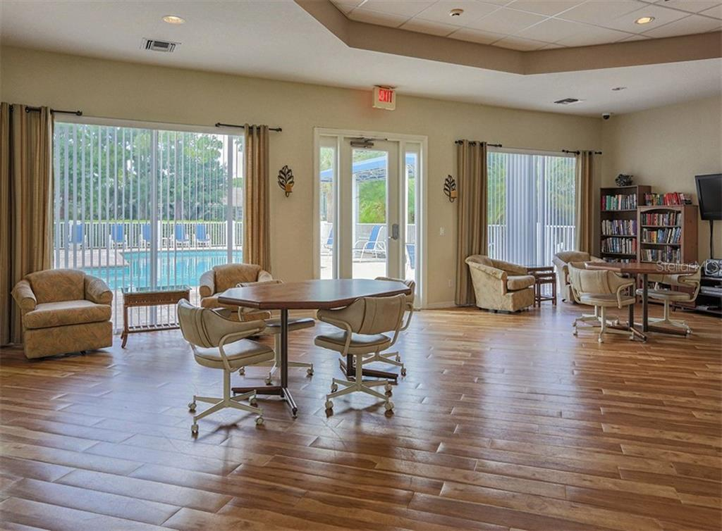 Clubhouse/card room - Villa for sale at 865 Tartan Dr, Venice, FL 34293 - MLS Number is N6101901