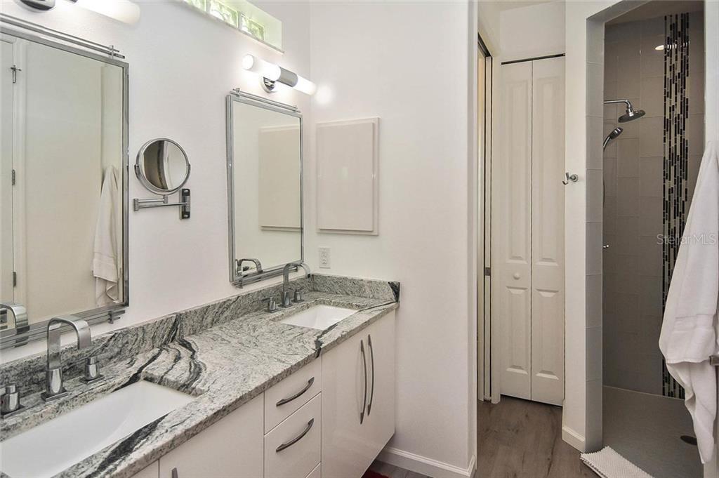 Gorgeous double sink vanity with a set of drawers - Single Family Home for sale at 624 Lehigh Rd, Venice, FL 34293 - MLS Number is N6105257