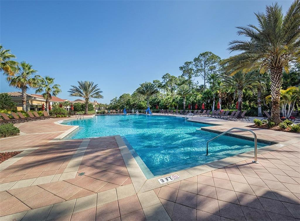 Community pool - Single Family Home for sale at 189 Portofino Dr, North Venice, FL 34275 - MLS Number is N6106071