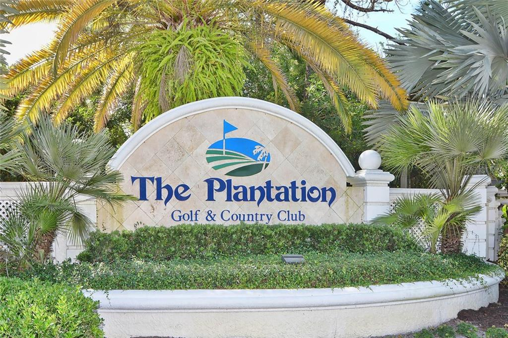 Plantation Sign - Condo for sale at 817 Montrose Dr #204, Venice, FL 34293 - MLS Number is N6108125
