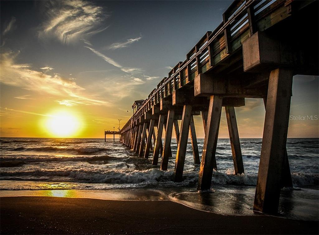 Sunset - Venice Fishing Pier - Condo for sale at 555 The Esplanade N #1004, Venice, FL 34285 - MLS Number is N6109326