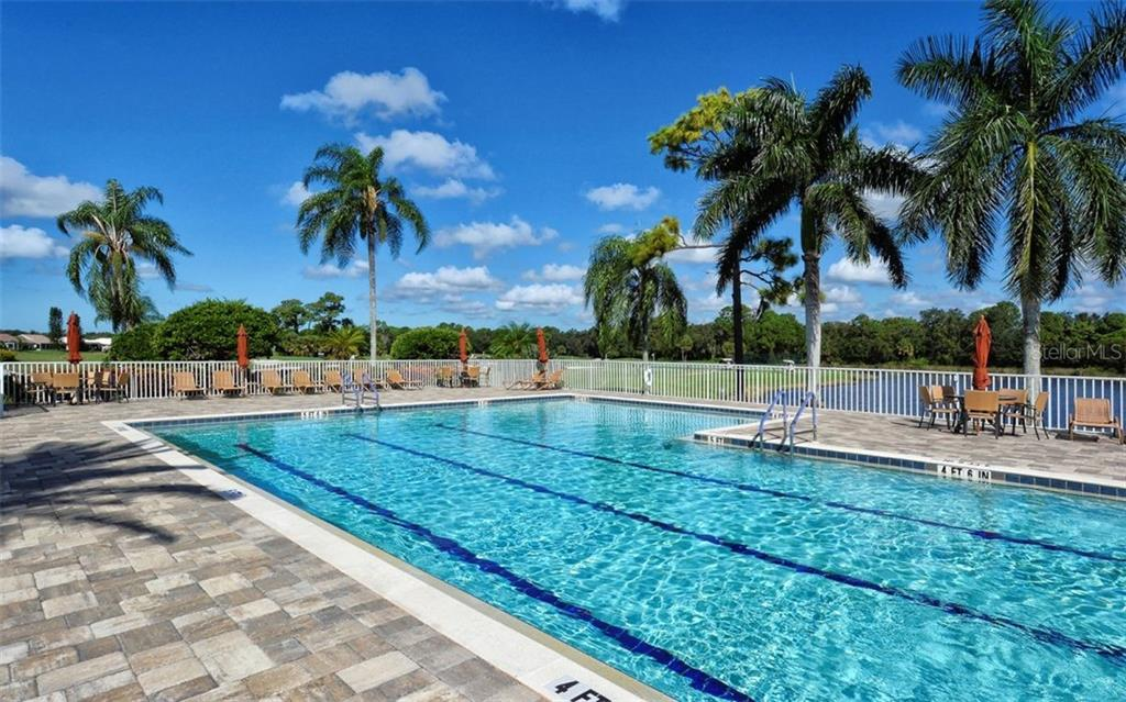 Clubhouse heated pool - Single Family Home for sale at 953 Chickadee Dr, Venice, FL 34285 - MLS Number is N6111180