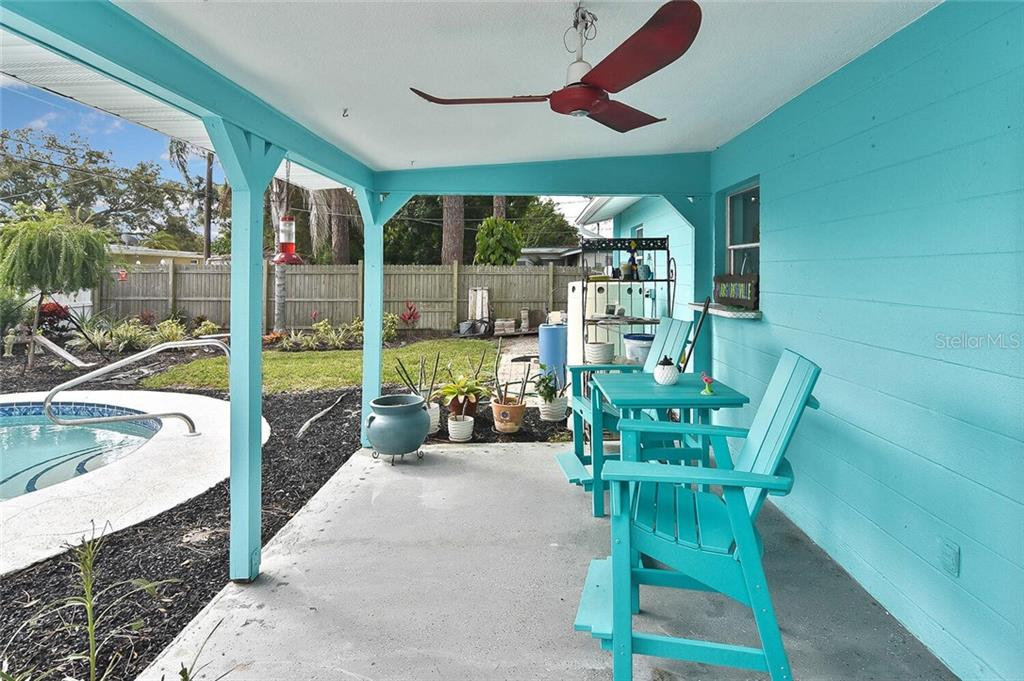 Covered patio - Single Family Home for sale at 991 Kimball Rd, Venice, FL 34293 - MLS Number is N6113781