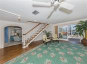 Huge formal living room with views of Little Sarasota Bay - Single Family Home for sale at 3509 Casey Key Rd, Nokomis, FL 34275 - MLS Number is N5915098