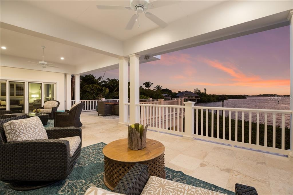 Pink sunrise from the upper terrace - Single Family Home for sale at 1600 E Railroad Ave, Boca Grande, FL 33921 - MLS Number is D6108744