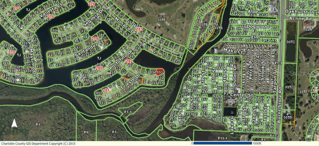 GIS Aerial of surrounding area - Vacant Land for sale at 5006 Palermo Dr, Punta Gorda, FL 33950 - MLS Number is C7210721