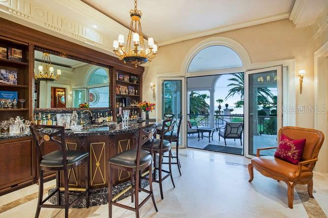 Library Bar looking towards Ocean - Single Family Home for sale at 1492 Casey Key Rd, Nokomis, FL 34275 - MLS Number is A4189751