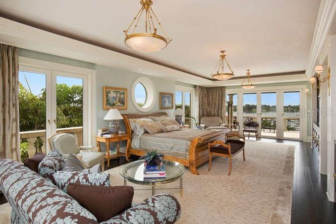 Master Bedroom Suite looking towards Blackburn Bay - Single Family Home for sale at 1492 Casey Key Rd, Nokomis, FL 34275 - MLS Number is A4189751