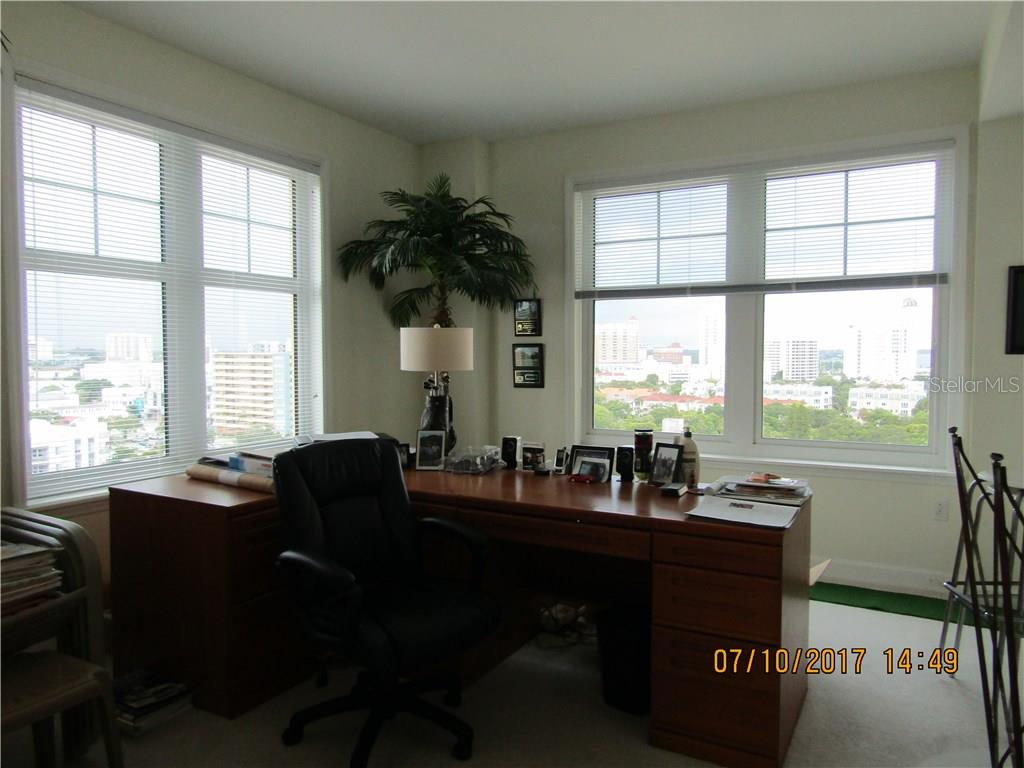 Large corner Den with views to the City and water peeks - Condo for sale at 750 N Tamiami Trl #1108, Sarasota, FL 34236 - MLS Number is A4190640