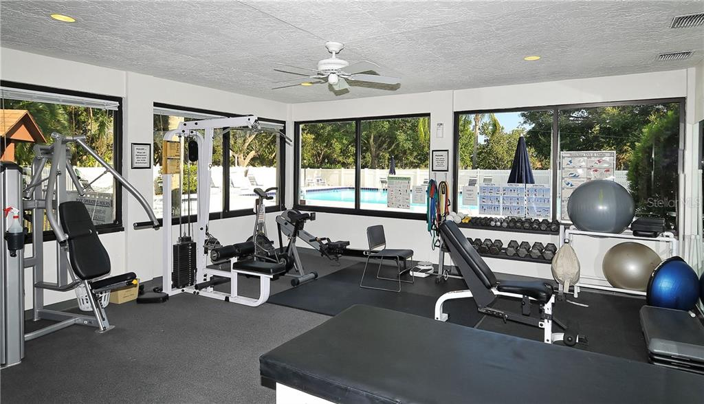 Palm-Aire Country Club fitness center.  Fitness, tennis, golf, and social memberships available. - Single Family Home for sale at 8106 Timber Lake Ln, Sarasota, FL 34243 - MLS Number is A4423770