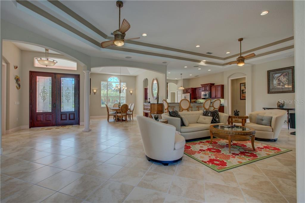 Just take a look at how open and bright the view is from the great room. - Single Family Home for sale at 15109 17th Ave E, Bradenton, FL 34212 - MLS Number is A4425963