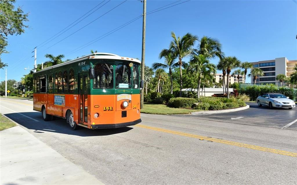 Free Trolley. - Condo for sale at 797 Beach Rd #215, Sarasota, FL 34242 - MLS Number is A4430524