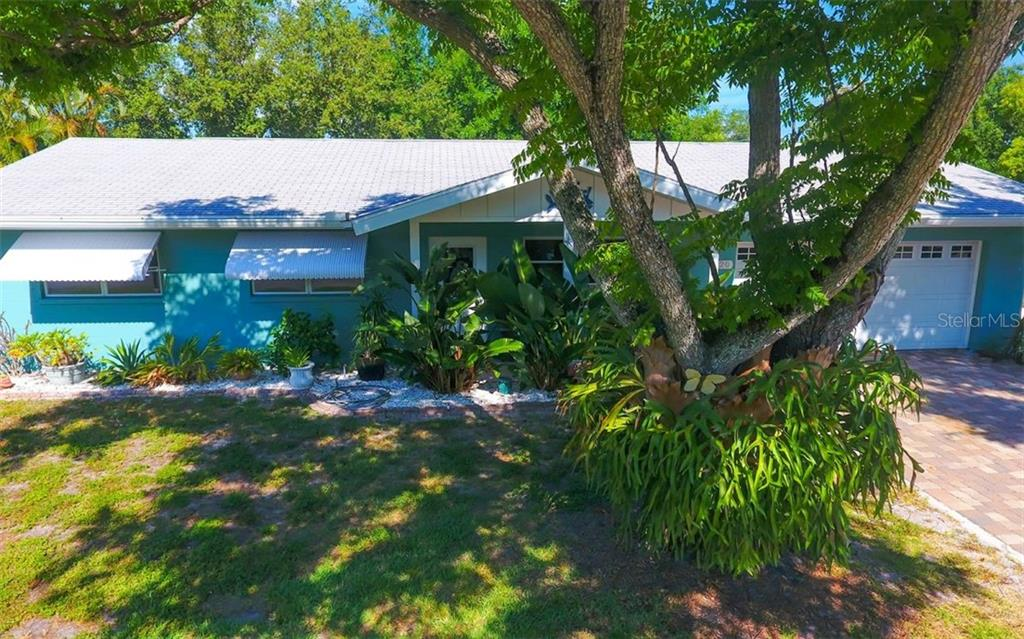 Front view of the house & the amazing staghorn! - Single Family Home for sale at 120 23rd Street Ct Ne, Bradenton, FL 34208 - MLS Number is A4438232