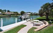 Canal, Dock with 16,000 lbs lift. - Single Family Home for sale at 465 E Royal Flamingo Dr, Sarasota, FL 34236 - MLS Number is A4187554